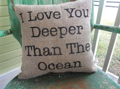 I Love you Deeper than the Ocean Inspirational by TakeFlyteFarm, $24.00