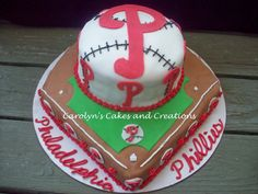 phillies grooms cake...would love to make this for my husband's bday.