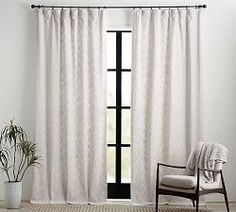 Belgian Flax Linen Rod Pocket Sheer Curtain - White | Pottery Barn Neutral Curtains, White Sheer Curtains, Drapes And Blinds, Double Rod Curtains, Modern Curtains, Rod Pocket Curtains, Hanging Curtains, Dining Room Curtains, Home