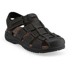 Men's Clarks JENSEN Fisherman's Sandals BLACK 10 M Clarks. $67.52