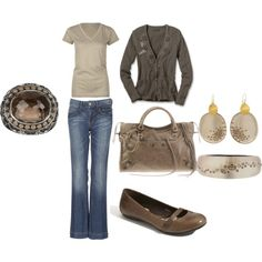 Shades of brown, my favorite Untitled #95, created by resptech21.polyvore.com
