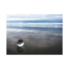 Crystal Ball on a foggy beach Day. Canvas Print - photography gifts diy custom unique special