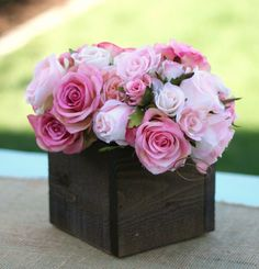 SET of 12 LARGE Barn Wood Planter Box Centerpieces by braggingbags, $240.00