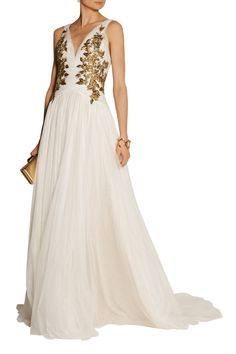 Shop on-sale Marchesa Embellished tulle gown. Browse other discount designer Dresses & more on The Most Fashionable Fashion Outlet, THE OUTNET.COM