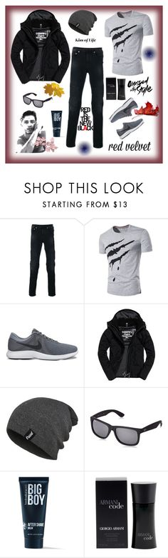 """Untitled #7"" by sladja-d-s ❤ liked on Polyvore featuring Neil Barrett, NIKE, Superdry, Ray-Ban, 21 Men, men's fashion and menswear"