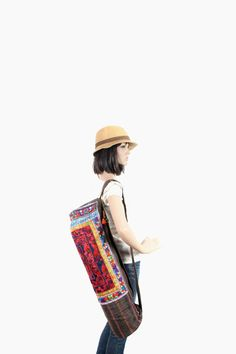 cute hemp yoga bag