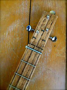 Cigar Box guitare chaîne trois FRETTED guitare par SoundBoxGuitars