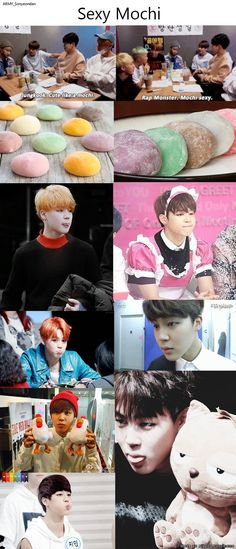 JIMINIE AND MOCH!! I ate a mochi its like i ate jimin i do not think that is good.