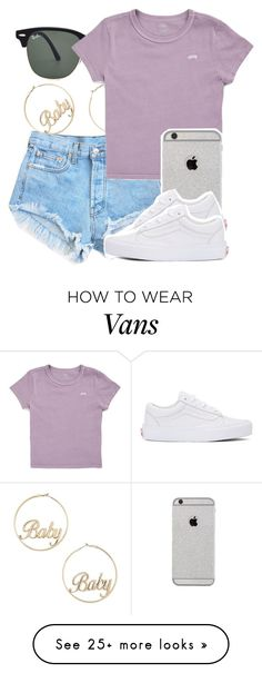 """Untitled #4840"" by dianna-argons-lover on Polyvore featuring Forever 21, Ray-Ban and Vans"