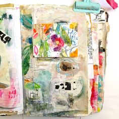 Art journal, collage and mixed media art by Roben-Marie Smith. Art Journal Pages, Art Journaling, Gelli Printing, Collage Art Mixed Media, Art Journal Techniques, Mark Making, Art Journal Inspiration, Love Art, Art Tutorials