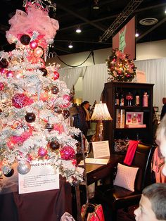 Create a #girly glam #gift section-they have pink trees at Walmart- I have 2!