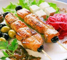 Baked Salmon Skewers