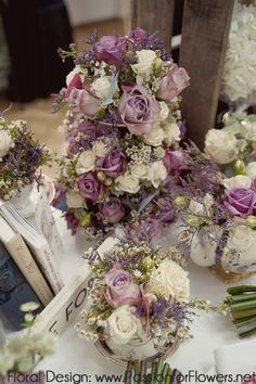 Vintage wedding flowers {Passion for Flowers at The Vintage Chic Wedding Fair} by jimmie