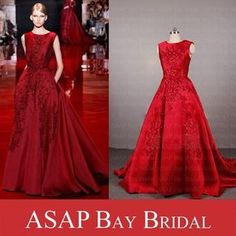 Real Sample Picture Elie Saab Evening Dress A Line Satin Evening Gown With Lace Appliques Grecian Evening Dresses Cheapest Evening Dresses From Good Happy, $125.0  Dhgate.Com