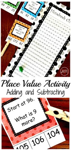 Here's A Free Number's Chart Activity to Build Number SenseYou can find Number sense and more on our website.Here's A Free Number's Chart Activity to Build Number Sense Number Sense Activities, Place Value Activities, Math Place Value, Math Activities For Kids, Counting Activities, Math Resources, Math Games, Classroom Activities, Kids Learning