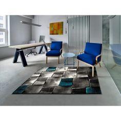 Covor gri 140 x 200 cm, Modern, Imprimeu abstract