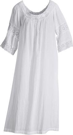 April Cornell White Lace Nightgown