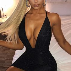 Sexy Backless Bodycon Mini Party Club Women Dress Robe Bodycon, Mini Robes, Mini Vestidos, Sexy Skirt, Tight Dresses, Women's Dresses, Bikini, Skirt Set, Backless