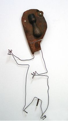 ior design as well as in the graphic arts. Christian Voltz Lives and works in Strasbourg, France. Found Object Art, Junk Art, Cycling Art, Assemblage Art, Recycled Art, Wire Art, Art Images, Art Lessons, Human Figures