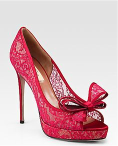 Valentino ~ Lace Couture Red