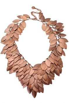 Chic Layred Leaves Chocker Bib Necklace - OASAP.com
