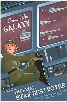 Vintage inspired licensed Star Wars prints for sale.