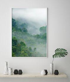 Make your room cozy and unique! This green forest poster is the perfect idea to decorate your home area!/ Plakat z botanicznym wzorem nada Twojemu wnętrzu charakteru, ciepła kolorystyka sprawi, że pokój stanie się przytulny. Porzuć białe ściany! #poster#botanic#forest#green#calm#art#homedecor#homedesign#cozy#room#fototapety#dom#dekoracje