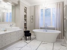 Classic Bathroom Designed By @kaynedesigns With A Modern @BainUltra Tub.  Learn More About