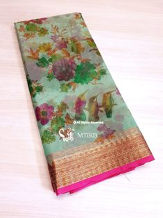 Organza Saree, Free In, Printed Sarees, Digital Prints, The Originals, Contrast, India, Blouse, Products