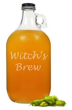 Serving up a delicious cider with this growler at the next Halloween get-together.