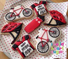 Bike and helmet cookies