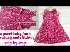 Girls Dresses Sewing, Frocks For Girls, Kids Frocks, Little Girl Dresses, Baby Dresses, Lovely Dresses, Stylish Dresses, Women's Fashion Dresses, Fancy Dress Design