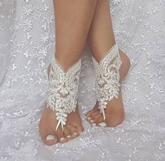 Beach Wedding Photos Barefoot Beach Wedding - 45 stylish and adorable barefoot beach wedding shoes ideas make your bridal look even more fabulous; beach wedding sandals for bride and shoes for beach. Diy Wedding Shoes, Wedding Sandals For Bride, Wedding Boots, Bridal Sandals, Bride Shoes, Wedding Ideas, Wedding Lace, Trendy Wedding, Spring Wedding