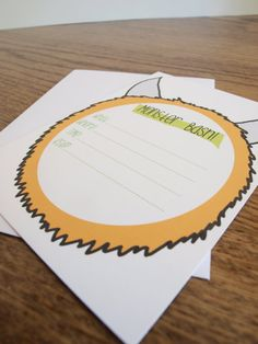 Hand Drawn Monster Bash Theme Boy Birthday Party Invitations Set of 10
