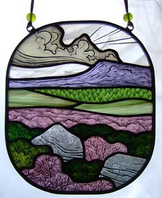 Juliet Forrest: The Peak stained glass artwork: information and images