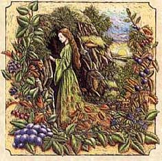 Mabon, The Druids call this celebration, Mea'n Fo'mhair, and honor the The Green Man, the God of the Forest, by offering libations to trees. Offerings of ciders, wines, herbs and fertilizer are appropriate at this time. Wiccans celebrate the aging Goddess as she passes from Mother to Crone, and her consort the God as he prepares for death and re-birth.    Various other names for this Lesser Wiccan Sabbat are The Second Harvest Festival, Wine Harvest, Feast of Avalon, Equinozio di Autunno…