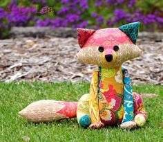 Fox Softie PDF Sewing Pattern, Francie the Fox Stuffed Animal Pattern, Patchwork…