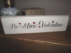 BE MINE VALENTINE w/hearts  primitive wood sign  #NaivePrimitive