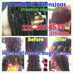 Dread lock lengthening, extensions , dread lock repair , retwist , designs, color your locks , locs , maintain your dreads
