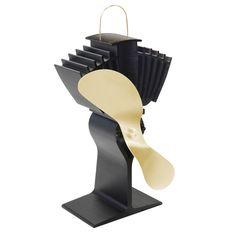 Caframo Ecofan Airmax 812 AM Heat Powered Stove Fan - Gold Blade