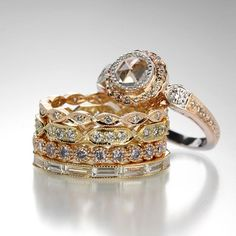 The sparkle of new beginnings... Engagement rings and wedding bands by Sethi Couture @quadrum