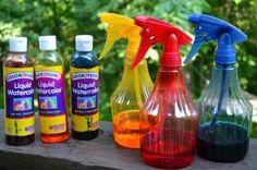 Watercolor spray paint - outdoor mark making Diwali Activities, Fun Summer Activities, Creative Activities, Activities For Kids, Learning Activities, Eyfs Outdoor Area, Outdoor Play, Creative Area, Color Spray