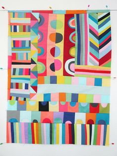 Lu Summers -inspiring.  Maybe for my daughter's quilt who's favorite color is: red, pink, yellow, green...rainbow!
