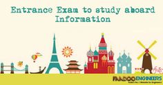 Get every informations and updates of GRE exam and other entrance exam to study aboard. www.faadooengineers.com