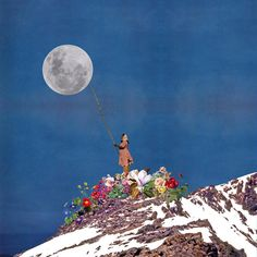 why i built the moon #collage #collageart #collagecollectiveco