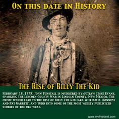 Billy The Kid rose to fame during the Lincoln County War because of events that happened upon this date. http://www.myfivebest.com