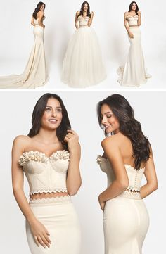 Circe is a Crop Top dress from the handmade, haute couture Atelier Zolotas collection. Create your bridal look with the skirt you love!