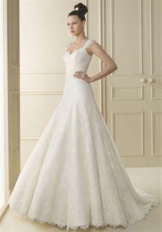 Elegant Lace Wedding Gown. Beautiful...