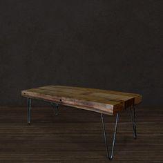 Reclaimed Picklewood Coffee Table With Steel Legs