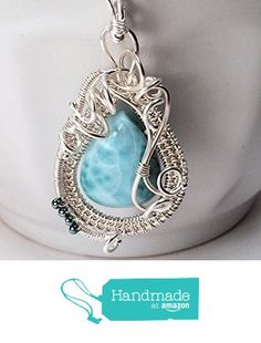 Larimar Silver Woven Rhythm of the Sea Pendant from SS Magpie http://www.amazon.com/dp/B016JNSDX2/ref=hnd_sw_r_pi_dp_4q7nwb0EMM19W #handmadeatamazon